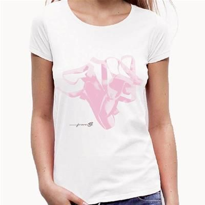 Forever B. white slimfit t-shirt 100% cotton - T-SHIRTS - Top Dance Prato…