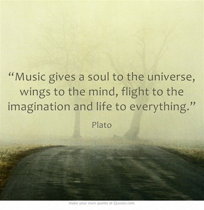 Today's #quote of the day comes from Plato. #musicquotes #music