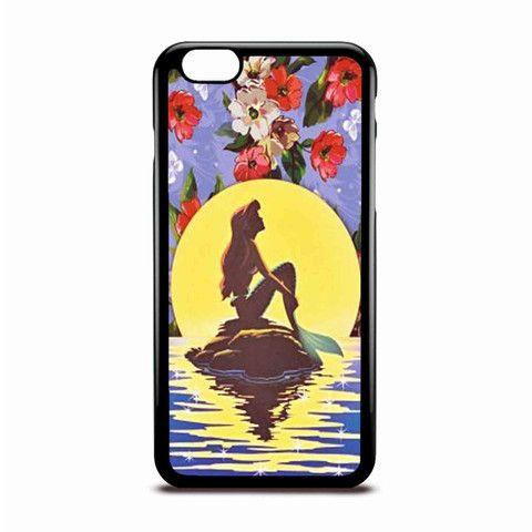 Ariel Little Mermaid Flower Vintage Disney Case Design For IPhone