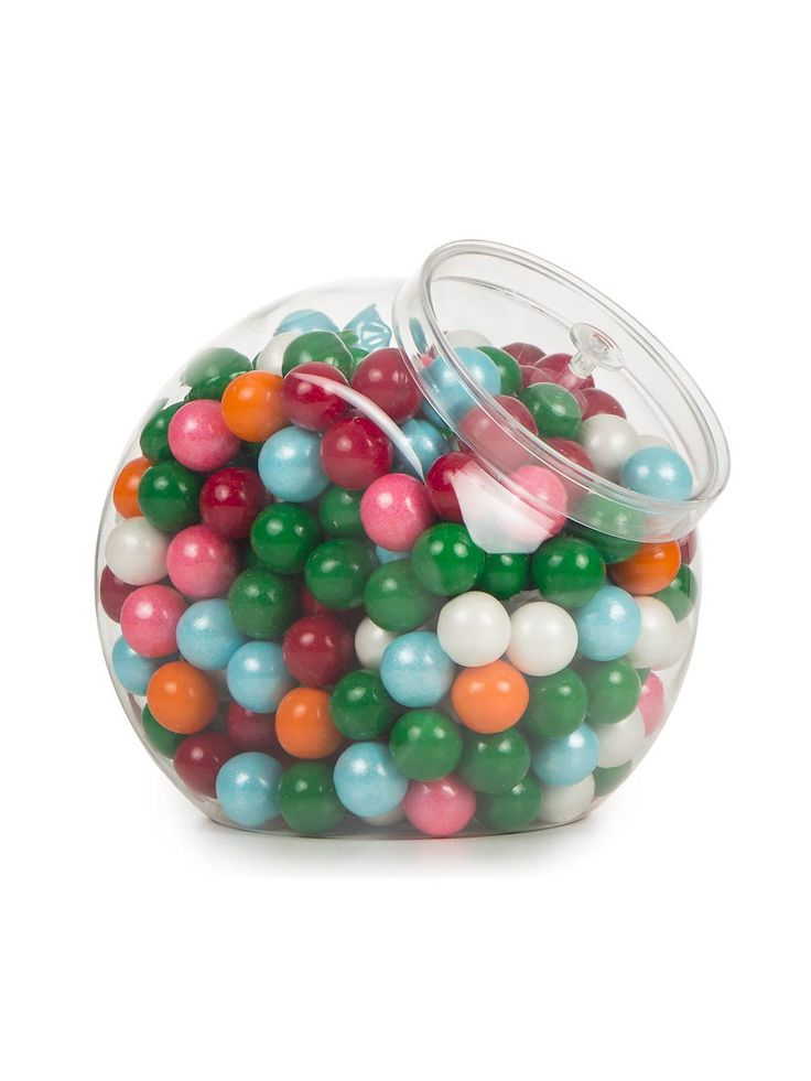 Candy Jar Plastic Container with Lid | Wholesale Party Supplies