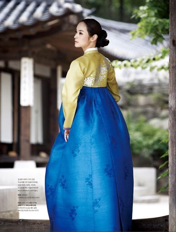 Korean traditional dress (hanbok) by Jinju Sangdan