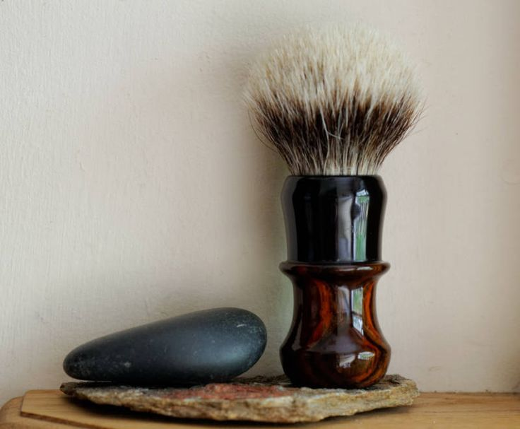 Exotic Wood Shaving Brush - Hand-Made with Water Proofed Cocobolo and Ebony…