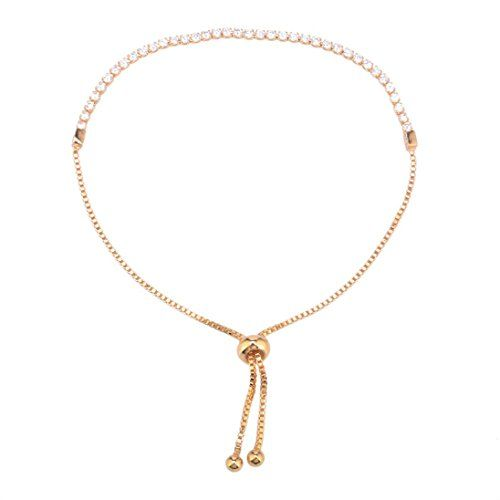 Susenstone Women Crystal Rhinestone Gold Plated Bangles Bracelet Jewelry Adjustable.More info for cheap anklets online;buy silver anklets online;silver anklets online;gold plated anklets;designer anklets online could be found at the image url.(This is an Amazon affiliate link and I receive a commission for the sales)