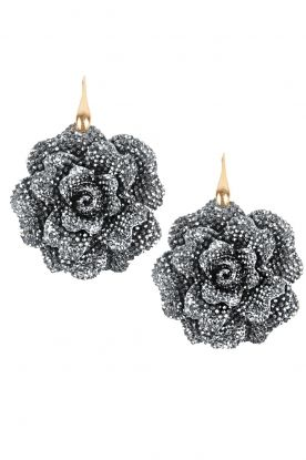 FLOWER BOMB | Earrings Roses: http://www.littlesoho.com/miccys-oorbellen-rozen-zilver-p-28350.html?language=en