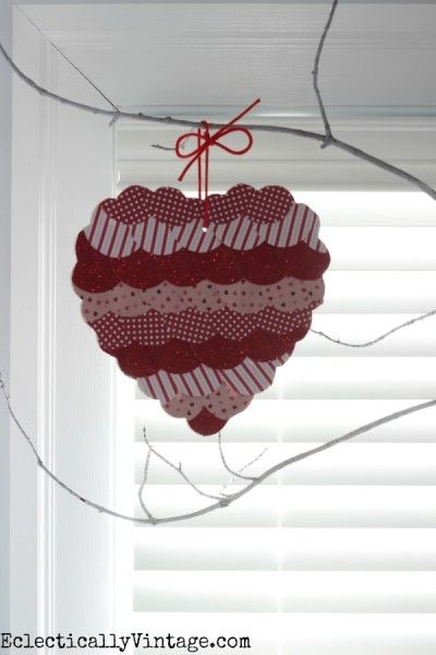 Make a fish scale Valentine heart eclecticallyvintage.com
