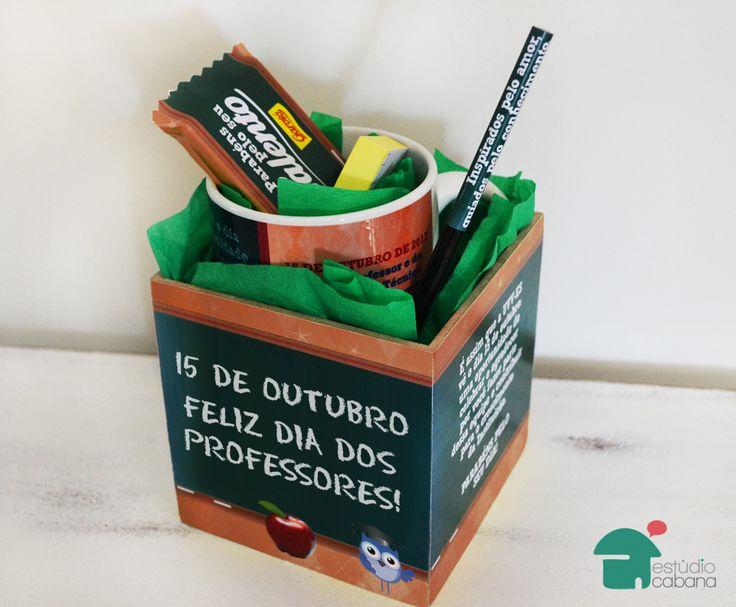 Kit criativo brinde para dia dos professores | Estúdio Cabana