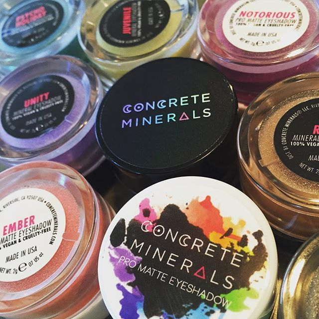 100% Vegan and Cruelty-Free Cosmetics! – Concrete Minerals, one of my favorite indie brands! Try their Pro Matte eyeshadows, they are amazing, and they recently released 3 new nudes! They also have a ton of Mineral shadows and new Lip Tints