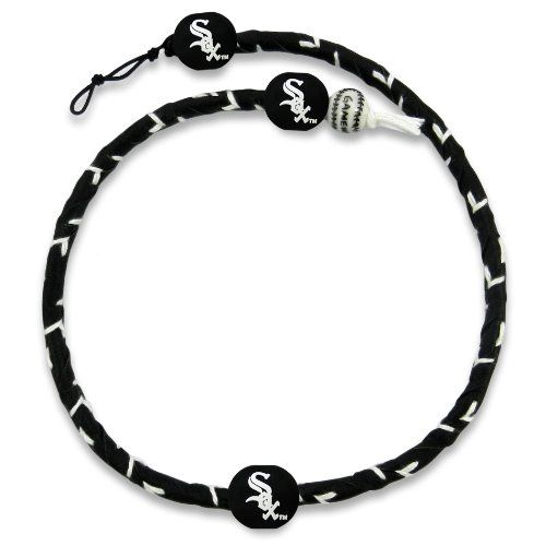 MLB Team Color Frozen Rope Baseball Necklace - Chicago White Sox  http://allstarsportsfan.com/product/mlb-team-color-frozen-rope-baseball-necklace/?attribute_pa_color=chicago-white-sox  Adjustable Clasp Made from Genuine Leather Officially Licensed