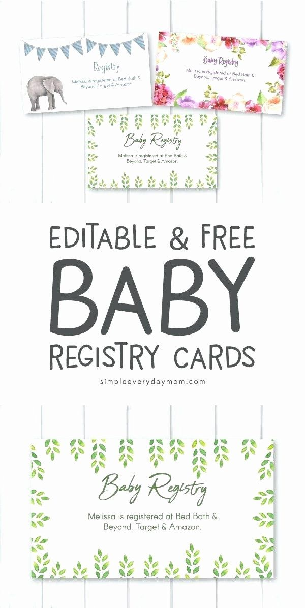 Target Baby Shower Invitations Fresh Baby Registry Card Shower Invitations Whale Whimsy Cards Baby Registry Cards Registry Cards Free Baby Shower