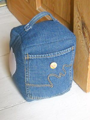 Denim Doorstop
