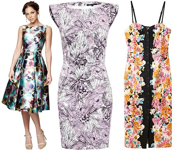 Floral cocktail dresses for summer