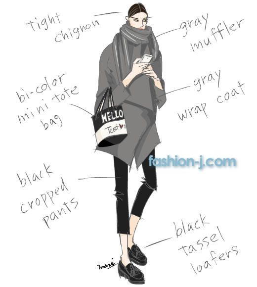 I love these illustrations of fashion trends in Tokyo.