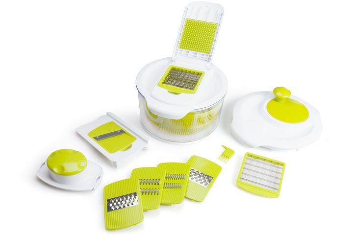 FOR THE CHEF For The Chef Salad Maker Set 5-Qt.Capacity Salad Spinner