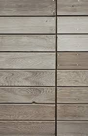 Good example of grain and colour of natural weathered cedar cladding - horizontal