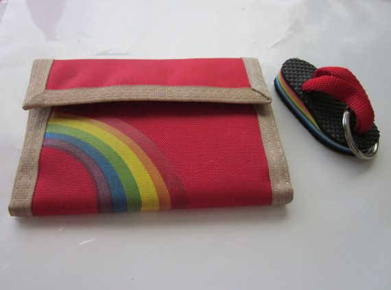 velcro wallet  flip flop keychain. I had this exact set. Wow, forgot until I saw this. Isn't Pinterest wonderful.