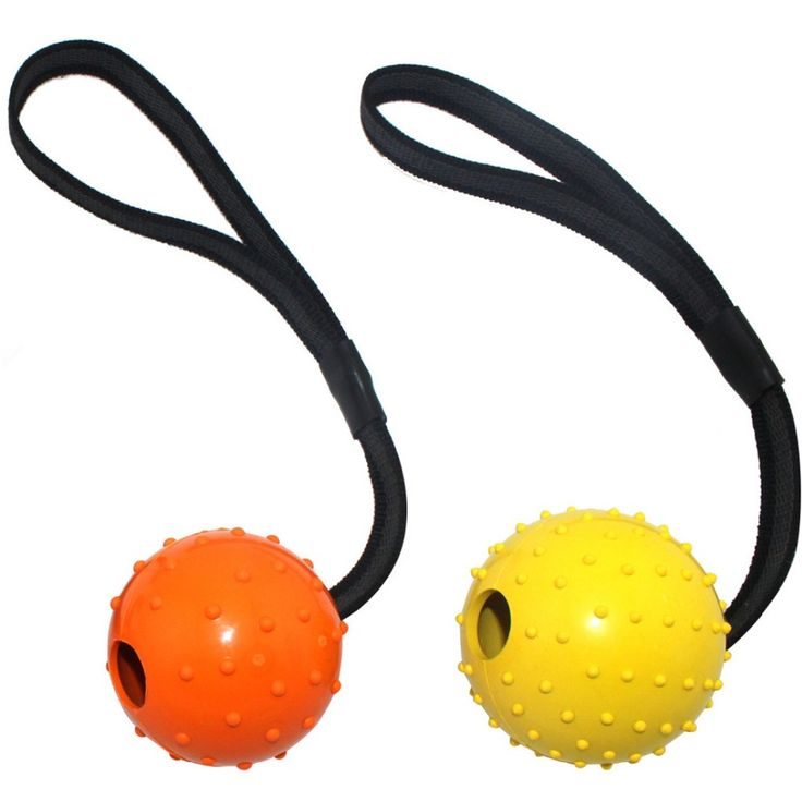 K-9 High Quality Multiple Color Natural Rubber Ball On A Strap Rope Pet Dog Training Toys // Worldwide FREE Shipping //     #dogsupplies