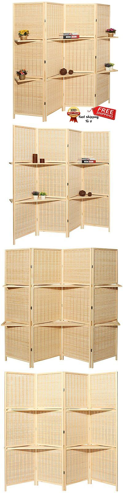 Screens and Room Dividers 31601: Outdoor Private Screen Deluxe Beige Bamboo 4 Panel Folding Room Divider Spa Room -> BUY IT NOW ONLY: $164.49 on eBay!