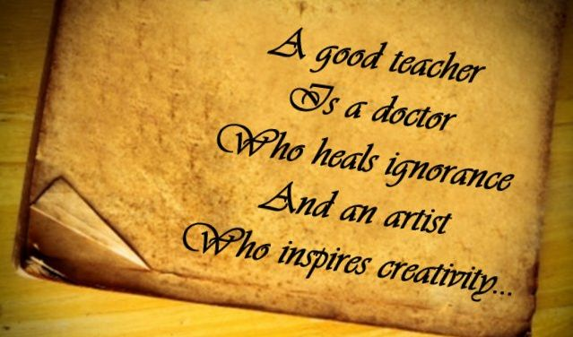 A good teacher is a doctor who heals ignorance and an artist who inspires creativity. #Alagappa #Institute #of #Technology