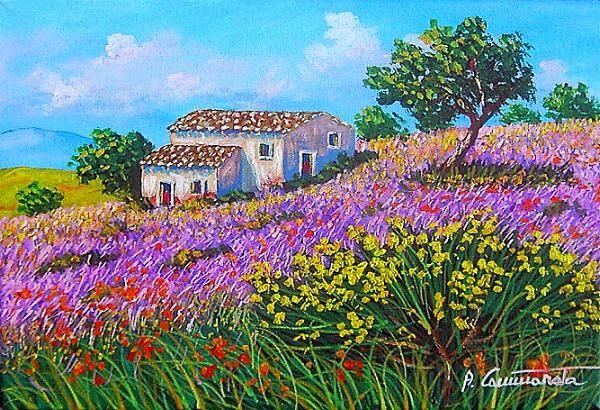 Campagna Dipinto Paesaggio Di Campagna Alberi Dipinti Paesaggio Siciliano Paesaggi Bei Paesaggi Paesaggio Di Campagna