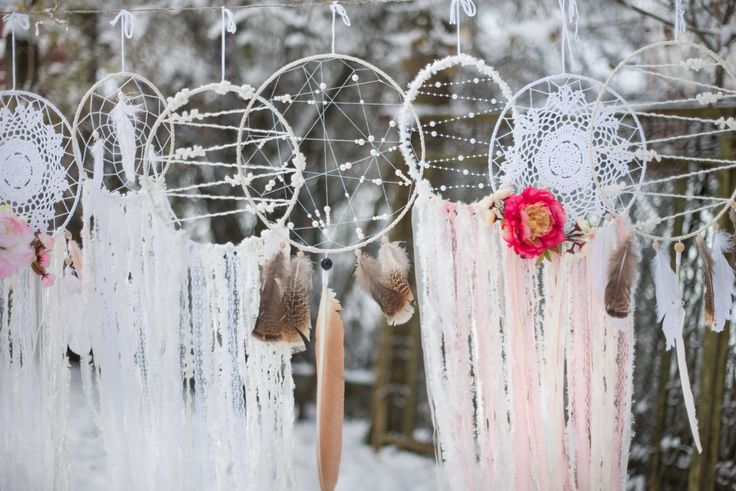 Wedding dream catchers set, 10 pieces White boho dreamcatchers set Bohemian wedding decor Large wedding dreamcatchers set Boho wedding decor by MysteriousForests on Etsy