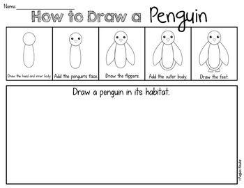 how to draw a penguin kindergarten