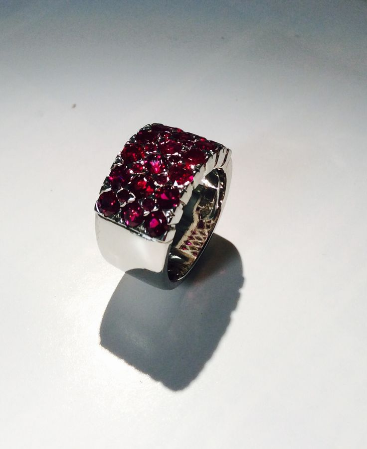 Ruby and White Gold Ring