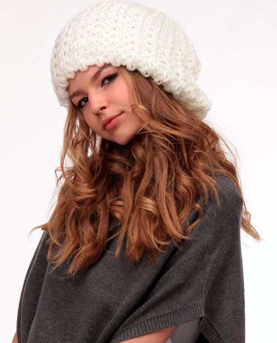 Slouchy hat fall Winter Oversized Chunky hat Baggy beanie Hat