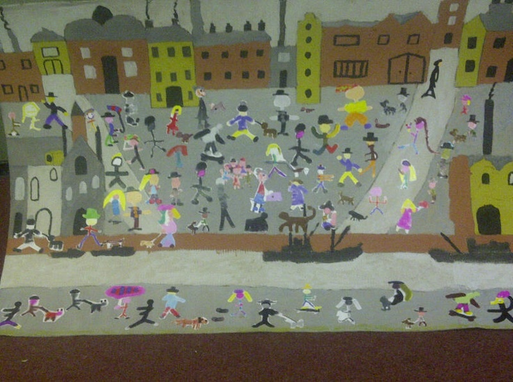 Classroom Display Ideas Victorians : Best images about ls lowry for y on pinterest