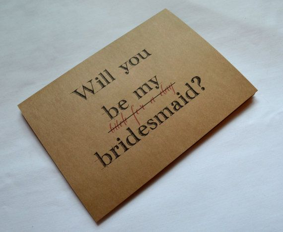 Will you be my BRIDESMAID Card BITCH for a Day Bridesmaid