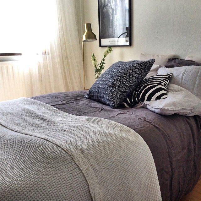 #ahlsellvägen #hmhome #linne #linen #bedroom #bedding #sovrum #interior #inredning #instahome #hjorthagen #stockholm #styling #homestyling