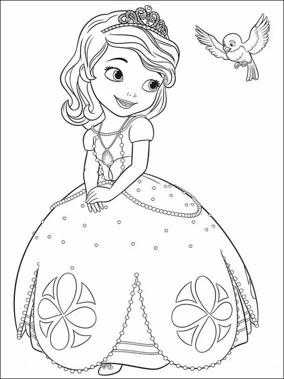 Princesa Sofia 2 Dibujos Faciles Para Dibujar Para Ninos Colorear