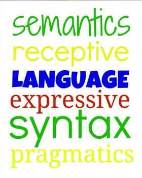 Free! Subway art for speech therapy for language. Colors are red, blue, green and yellow.
