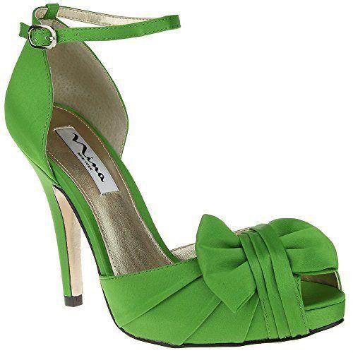 Fast Shipping Nina Women's Ella Womens Black Luster Satin Nina Womens Sandals