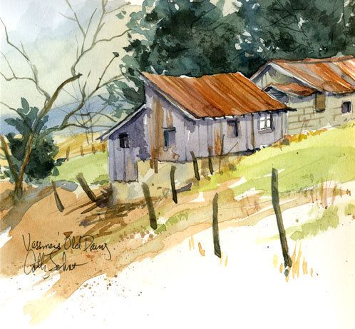 Dairy Barns, by Cathy Johnson.  This is another one of my favorites of Cathy Johnson's art.