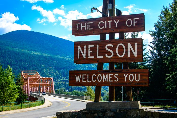 A warm welcome to Nelson as you approach the big orange bridge