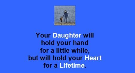 Best Daughter Quotes:Your daughter will hold your heart for a lifetime - Famous Daughter Quotes - Best sayings about Daughter