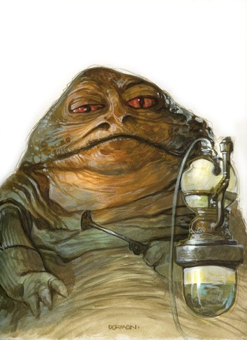 Jabba the Hutt by Dave Dorman, in Chad Knopf's Selections Comic Art Gallery Room