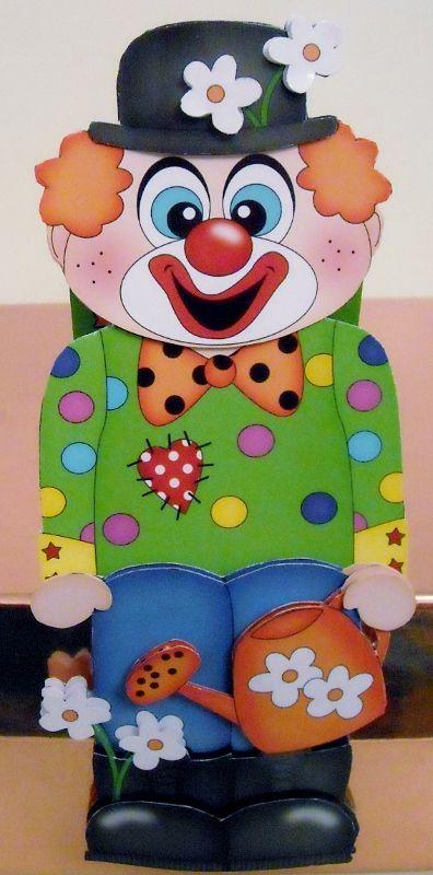 Card Gallery - 3D On the Shelf Card Kit - JoJo the Clown