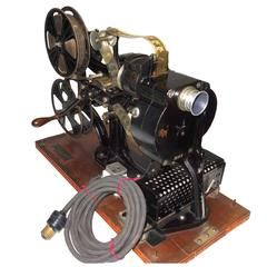 Pathe 28mm Hand Crank Movie Projector, circa 1918, W/ Film. Sculpture. ON SALE!! Looks like the rich of Europe are selling out to get out.