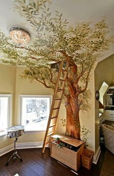 enchanted forest mural - Google Search
