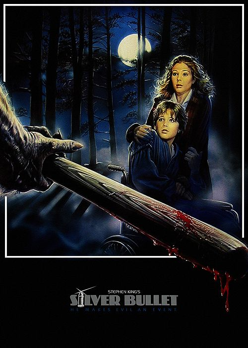 """I like the classic 80s look of this poster, also a memoir of 50s sci-fi/horror novels. The kid and his mom remind me of our """"biggest fan"""" and victim."""