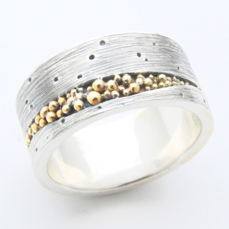 blue goldsmiths : sterling silver and 18k yellow gold crevice