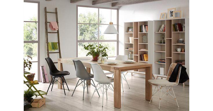 Spisebord modell VIANA😊 mirame.no #bord #spisebord #norskehjem #norsk #nordiskehjem #nordiskdesign #kjøkken #kjøkkenbord #spisestue #stue #nettbutikk #mirame #innredning  #tre #ileggsplater #integrert #stol #lars #oslo #norsk #rom123 #viana