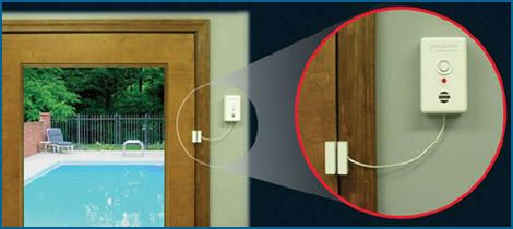 The Poolguard® Door Alarm helps to prevent kids from slipping out the door unnoticed and into a dangerous area where there's potential for drowning