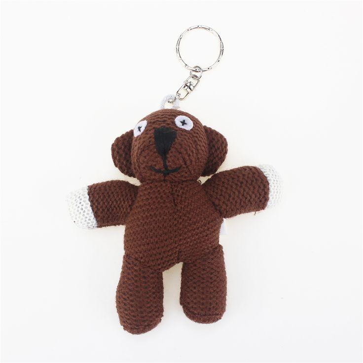11cm Funny Mr Bean Stuffed Plush Teddy Bear Keychain Stuffed Animals Teddy Bear Dolls Small Pendant. Click visit to buy