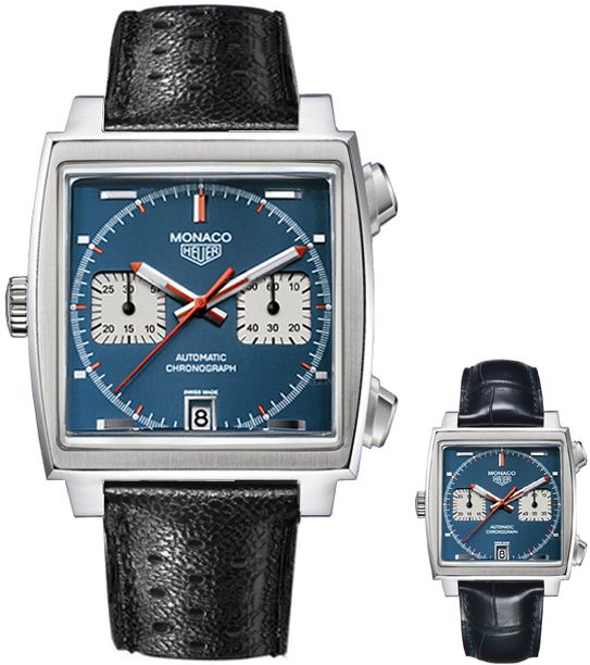 CAW211A.EB0026  NEW TAG HEUER MONACO MENS WATCH    Discontinued usually ships within 6 months  - FREE Overnight Shipping - NO SALES TAX (Outside California)- WITH MANUFACTURER SERIAL NUMBERS - LIMITED 40TH ANNIVERSARY STEVE McQUEEN RE-EDITION  - Numbered XXXX of 1000 Ever Made  - Blue Dial- Chronograph Feature - Self Winding Automatic Movement- 3 Year Warranty - Guaranteed Authentic - Certificate of Authenticity - Scratch Resistant Sapphire Crystal  - Brushed with Polished Steel Case  - ...