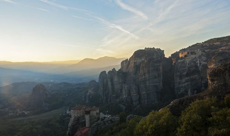 Meteora sunset valley 2