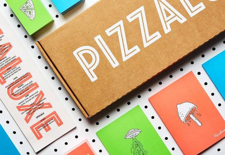 Print for PizzaLuxe designed by Touch and illustrated by Damien Weighill