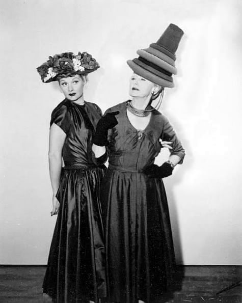 Lucille Ball and Hedda Hopper