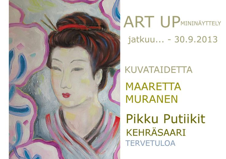 PikkuPutiikit Art UP mininäyttely - Maaretta Murasen kuvataidetta